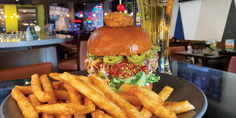 The Epic Nacho burger is just one of the many chef crafted menu items we offer