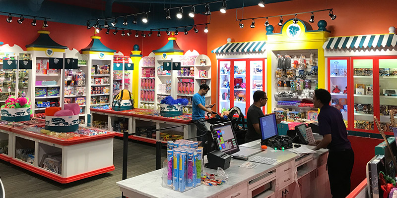Partner locations can have fully customized merchandise redemption stores