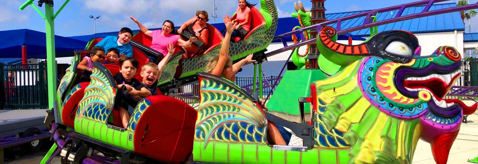 Ride the Dragon Coaster only at the World Famous In The Game Corpus Christi